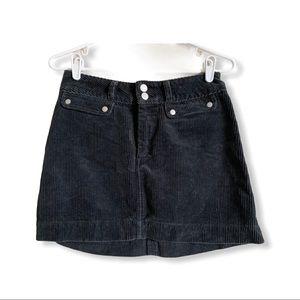 ABERCROMBIE / charcoal black corduroy mini skirt